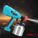 B&H-ERX Farbspritzgerät, DIY 800W Elektrische Spritzpistole, 1 X 800Ml Farbbecher, HVLP Handspritzpistolen-System, Zaunsprüher, Einstellbares Ventil,Lackieren,Lackieren,Blau