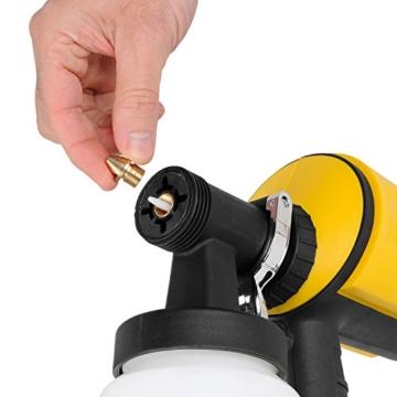 PowerPlusX Farbspritzpistole – elektrische Spritzpistole für Wandfarben - 6